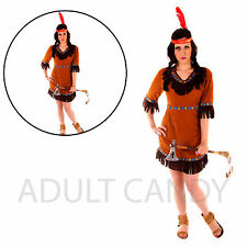 New Ladies Indian Women's Costume Complete Outfit Adult  Party Fancy Dress O/S