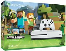 New Xbox One S 500GB Console Bundle with Controller + Minecraft +1Yr WARRANTY