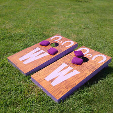 """Cornhole Game Set w/ """"pick your colors"""" bags - CUSTOMIZED OR UNFINISHED"""