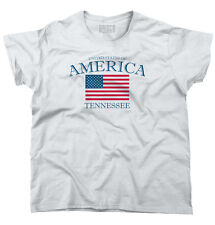 Tennessee State Patriotic Gift Ideas American USA T Shirt Flag Ladies T Shirt