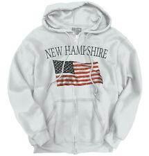 New Hampshire Patriotic Home State American USA T Shirt Cool Zipper Hoodie