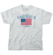 Hawaii State Patriotic Gift Ideas American USA T Shirt Flag T Shirt Tee