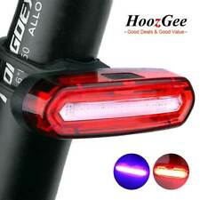 USB Rechargeable Bike Bicycle Cycling Front Rear Light COB Tail Lamp 4 / 6 Modes