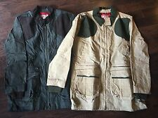 NWT Filson Light Shooting Jacket Waxed Cotton Olive Green Tan MADE IN USA M L