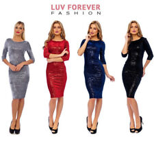 NAVY VELOUR SEQUIN EMBELLISHED BODYCON PLUS SIZE PARTY MIDI DRESS 8-18(WAS £69)