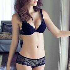 Sexy Women Lady Lace Push Up Bra Set + Thongs Briefs Underwear Lingerie 32-38B