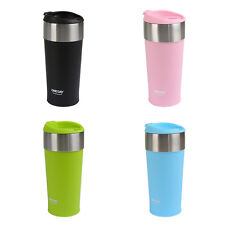 NEW 400ML WATER CUP STAINLESS STEEL VACUUM INSULATED COFFEE WATER MUG BOTTLE
