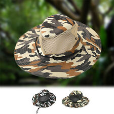 Bucket Hat Boonie Hunting Fishing Outdoor Cap Wide Brim Military Sun Camo Cotton