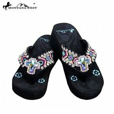 Montana West AZTEC Design with Center Cross Flip Flops~NEW!~ It's a BLING thing!