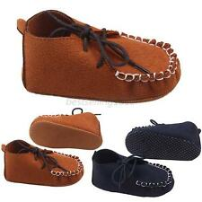 Baby Boy Girls Faux Suede Crib Shoes Causal Anti Slip Shoes Prewalker Shoes 9-12