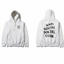 AntiSocial Social Club Hoodie Anti Social Club Hooded Kanye Sweatshirts White