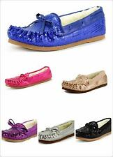 NEW Girl's Comfy Sequins Sparkle Moccasin Furry Winter Shoes 6 Colors
