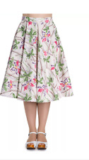 Hell Bunny Bamboo Floral 50s Style Rockabilly Jive Skirt