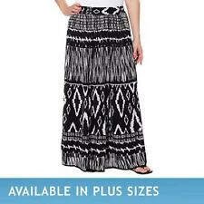 Chaudry KC Ladies' Pull-on Peasant Gypsy Lined Skirt Multi Color Sz S to 2XL~NWT