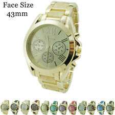 Ladies Geneva Designer Style Popular Fashion Chrono Wrist Watch 43mm
