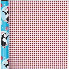 Penguins Roll Of Christmas Wrapping Paper Giftswrap Home Crafts Decor 80 gms
