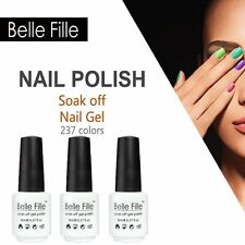 BELLE FILLE Nail Art Gel Polish Soak-off UV/LED Manicure & Pedicure 8ml new