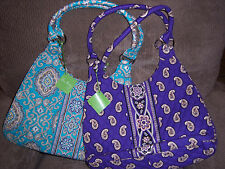 VERA BRADLEY LARGE HOBO IN TOTALLY TURQ & SIMPLY VIOLET NWT