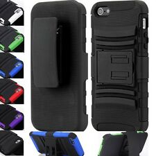 Shockproof Rugged Armor Belt Clip Holster+KickStand Swivel Stand Case Cover
