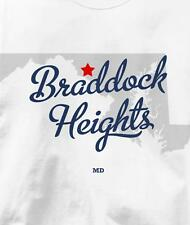 Braddock Heights, Maryland MD MAP Souvenir T Shirt All Sizes & Colors
