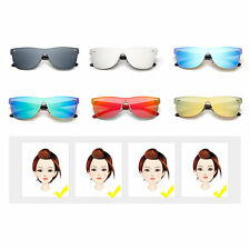 M Nail Decorated Integrated Metal Frame Colorful Lens UV400 Sunglasses BE