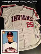 Jim Thome Cleveland Indians Me'n Early 90's Major League ERA Throwback Jersey