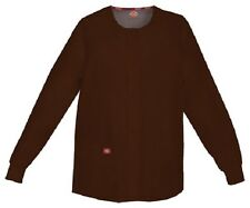 Scrubs Dickies Snap Front Warm-Up Jacket 86306 CHWZ Chocolate Free Shipping