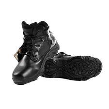 Men's Military Tactical Boots Leather Waterproof Police Duty Work ankle Boots