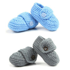 1 Pair Cute Infants Toddlers Baby Soft Crochet Knit Crib Shoes Walk Socks BE