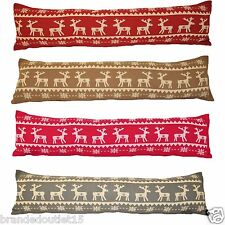 Reindeer Draught Excluders Tapestry Shabby Chic Fabric