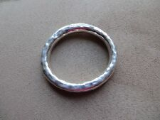 SILPADA .Retired Sterling Thick OVAL HAMMERED BANGLE Bracelet B1117