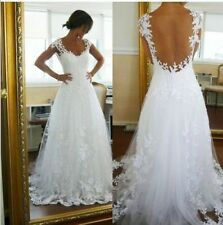2017 High quality tulle style white ivory  Wedding dress bridal gown size 4-16