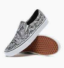 New Vans Classic Slip-On Moon Pewter-True White Unisex Shoes Sneakers V18DGZF