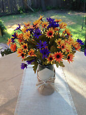 Fall Table Centerpieces.  Mini Daisies flower vase, ready to place on tables.