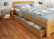 *NODAX New Solid Wooden Pine Small Double Bedframe 4ft Option Drawer or Bedside