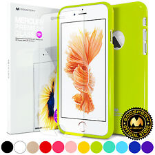 GOOSPERY® Slim Jelly TPU Bumper Case Cover + Screen Protector For iPhone 6 / 6s