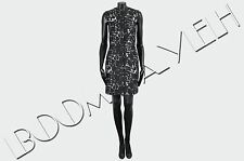BALENCIAGA 1555$ Authentic Black Cotton Blend Marble Jacquard Fitted City Dress
