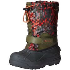 Columbia Boys Shoes Childrens Powderbug Forty Print Winter Boots Nori