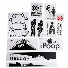 Removable Toilet Seat WC Wall Sticker Vinyl Bathroom DIY Art Mural Home Decor