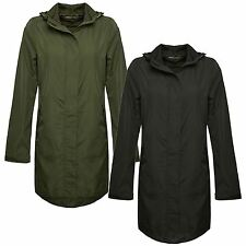 New Womens Wind Shower Waterproof Long Parka Raincoat Jacket 18-24