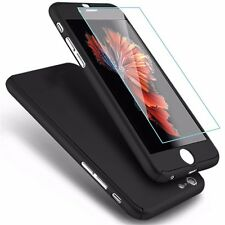360° Hybrid Hard Ultra Thing Case + Tempered Glass Cover for Apple iPhone 7 & 7+