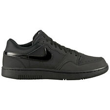 Nike Court Force Low Black Leather Men's Trainers Shoes Trainers dunk air one