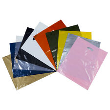 Coloured Plastic Carrier Bags Party Gift Bags  ***Choose Colour and Pack Size***