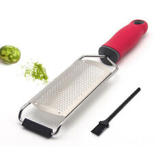 Stainless Steel Citrus Cheese Chocolate Zester Grater Peeler Kitchen Gadget 12""