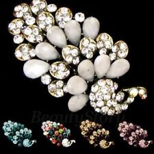 ADD'L Item FREE Shipping - Antiqued Rhinestone Peacock Hair Barrette Clip