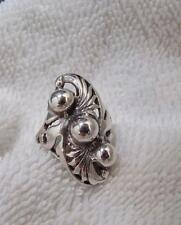Vintage Filigree   Sterling Silver Ring 1970-80's Size 7 1/2