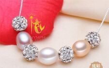 Natural Fresh Water Pearl, SSilver Earring, Necklace, Adjustable Ring Pearl Set.