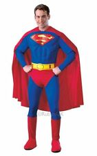 Adult Classic Superman Muscle Chest Mens Fancy Dress Costume