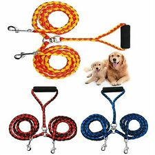 Duplex Double Dog Coupler Twin Lead 2 Way Two Pet Training Walking Leash Safety