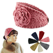Fashion Women Crochet Headband Knit Hairband Flower Winter Head wrap Girl Hair